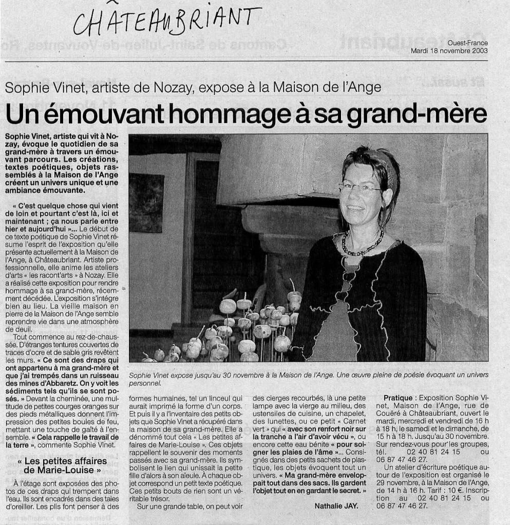 article pressemaison de l'ange hommage gd mère