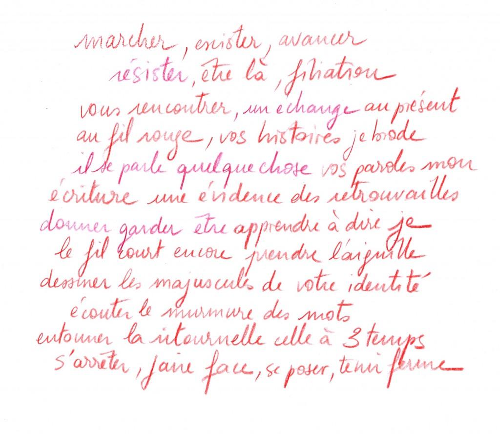 3 texte manuscrit rouge pr les dames
