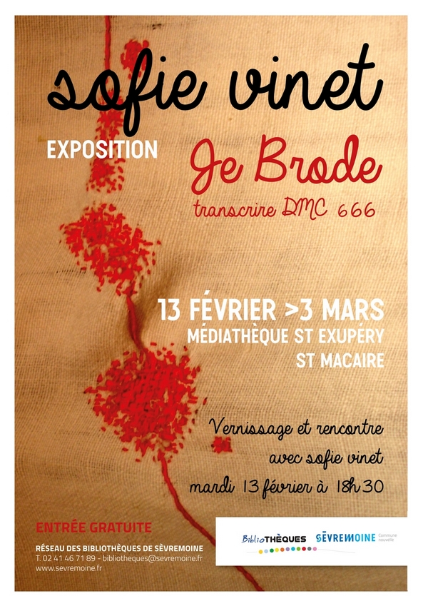 affiche web Exposition Sofie Vinet